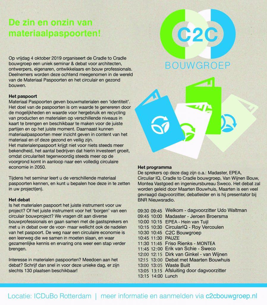 C2C Bouwgroep organiseert seminar programma