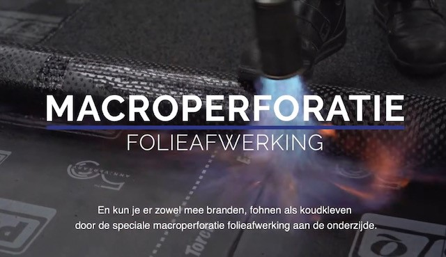 Macroperforatie folieafwerking